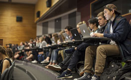 University of Otago students attending a lecture. Image.