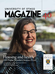 University of Otago Magazine issue 40 cover