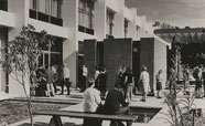 Library courtyard 1965