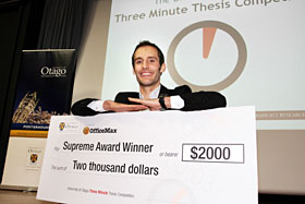 3 minute thesis winner Graduate students wanting to take part in the 3-minute thesis competition must submit an abstract of no more than 250 3mt winners 2017 three minute thesis.