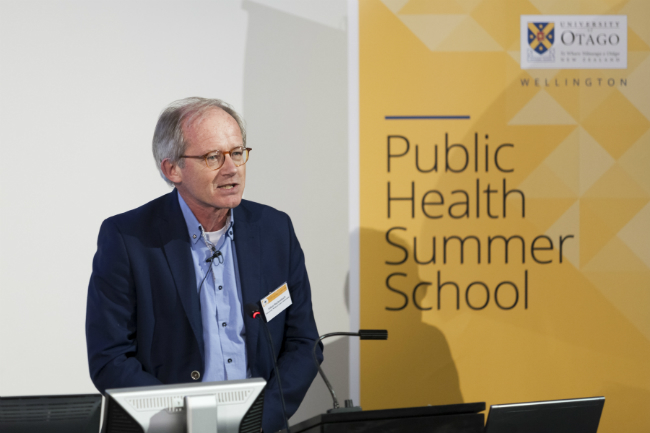 A speaker at the 2016 Public Health Summer School