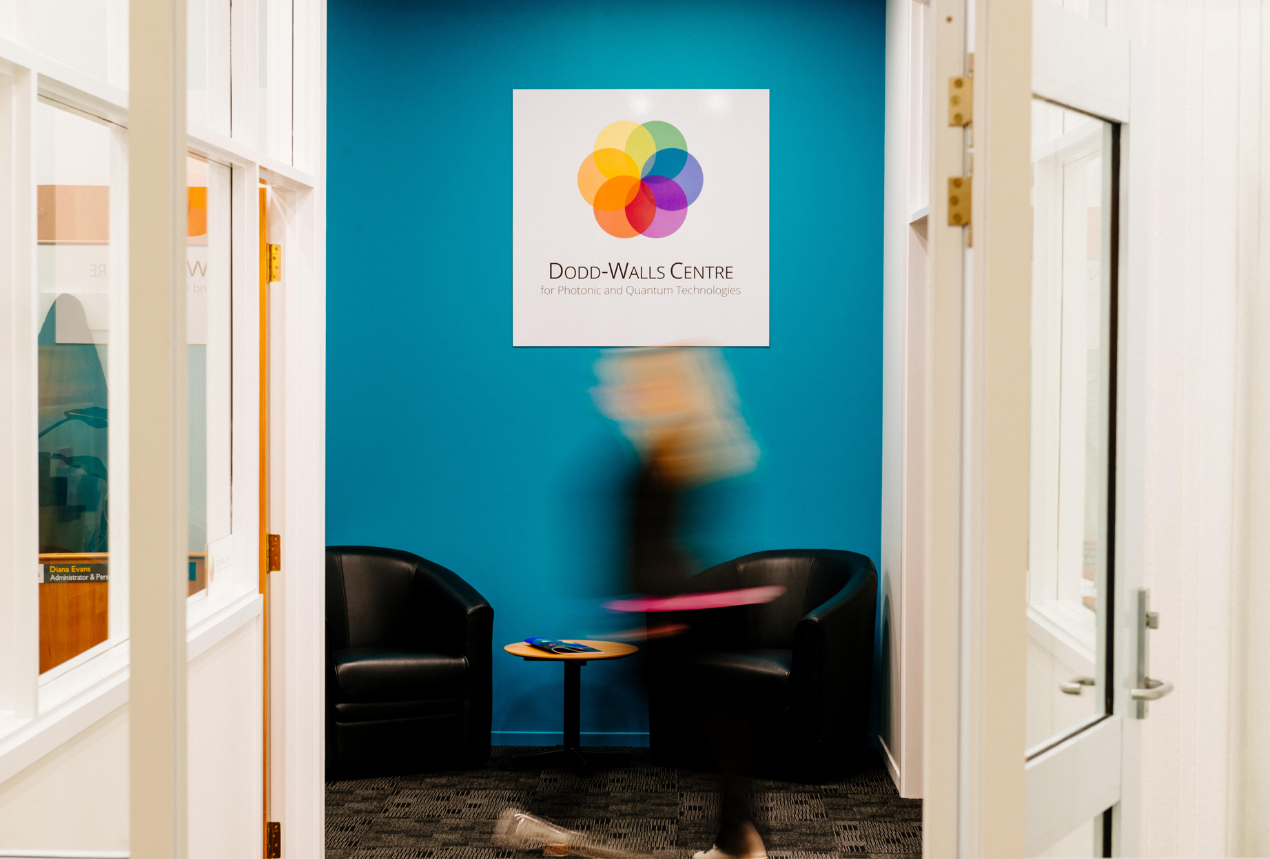 colourful image of Dodd-Walls Centre entrance