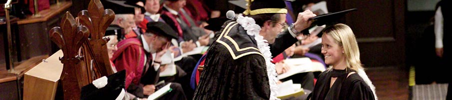 A student being capped at graduation