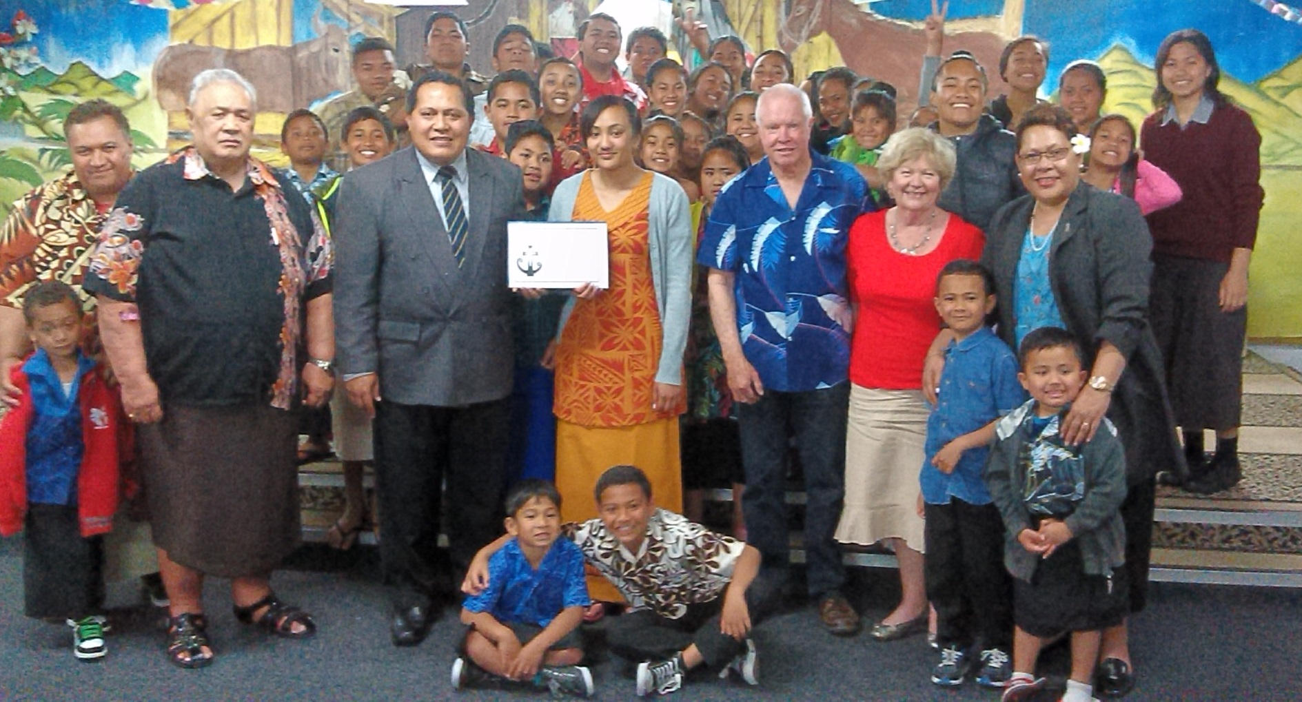 End of 2015 celebration at the homework centre in Mangere East