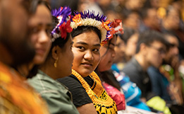 2020 02 20 Pacific students at Pacific Welcome image