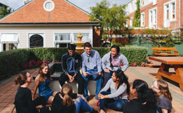 Students outside St Margarets residential college