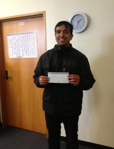 (OPG) Abhishek won Otago Institute Travel Award 2013