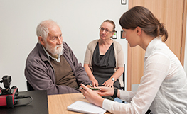 Patient having a consultation in the pharmacy clinic