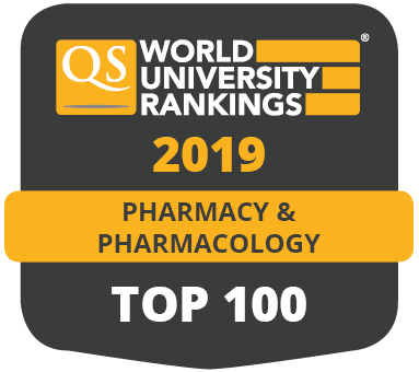 QS World University Rankings 2019 - Pharmacy and Pharmacology - Top 100