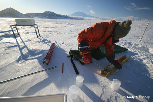 Ice core preparation