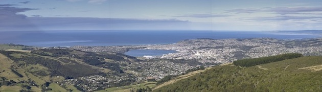 View of Dunedin from hills