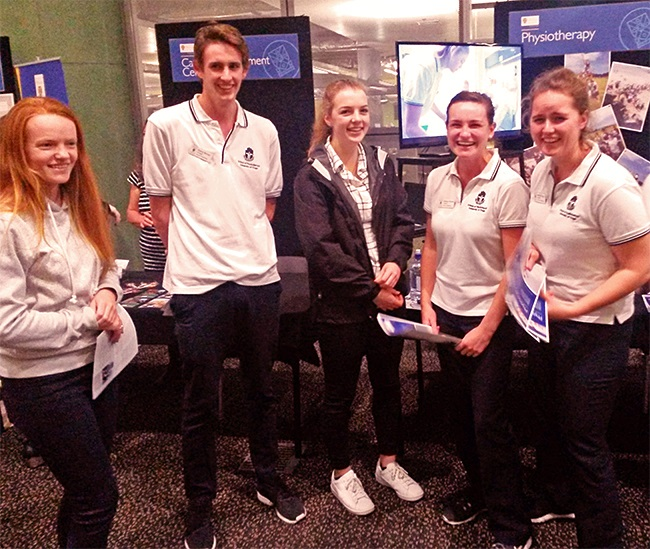 physio_HSFY students at open evening