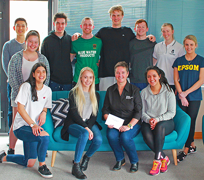 physio_world physio day 2017 halberg group students posed on couch