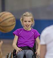 physio_thumbnail children in wheelchairs in gym with ball 2017