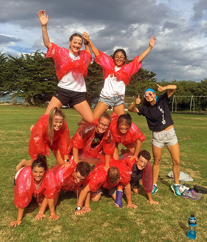physio_Camp  human pyramid 2018