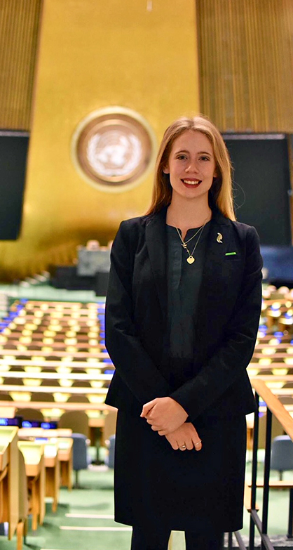 physio_UG student bridget rollinson_at UN 2018
