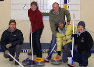 Empson Lab visit to the only Olympic-sized curling rink in the southern hemisphere, September 2011 (thumbnail-size image)