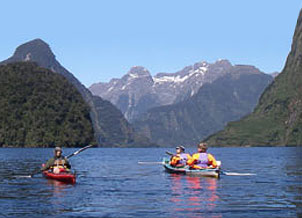 Kayaking in the Milford Sound