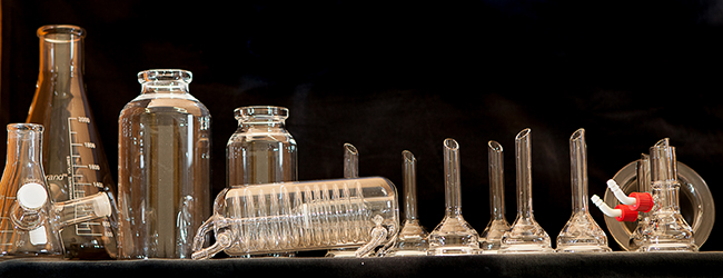 Scientific glassware set