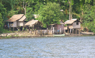 Coastal village in the Solomon Islands thumb