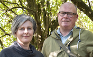Karen Greig and Richard Walter in a forest thumb