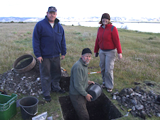 Researchers excavating artefacts at Wairau Bar image