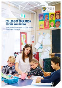 cover of College of Education prospectus