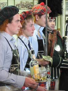 Boys involved in the haggis ceremony