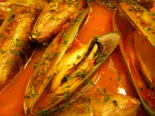 Mussels with rouille