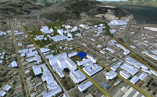 Location Of The School Surveying Virtual Dunedin Fully Digital Aerial Photography