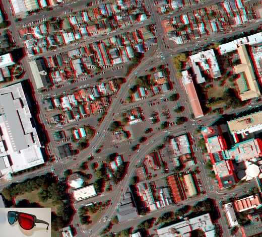 Anaglyph model of the School of Surveying