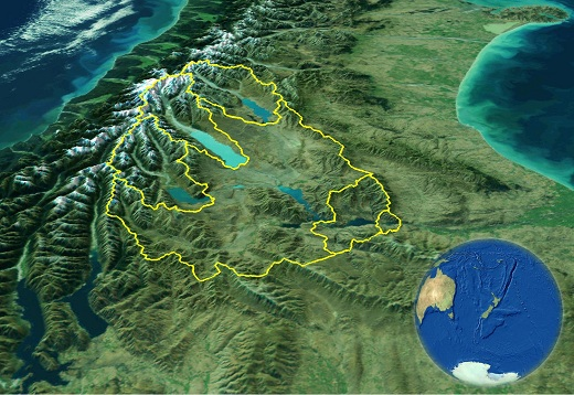 Catchments of the upper Waitaki