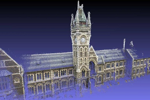 3D model of the clock tower made with Areograph