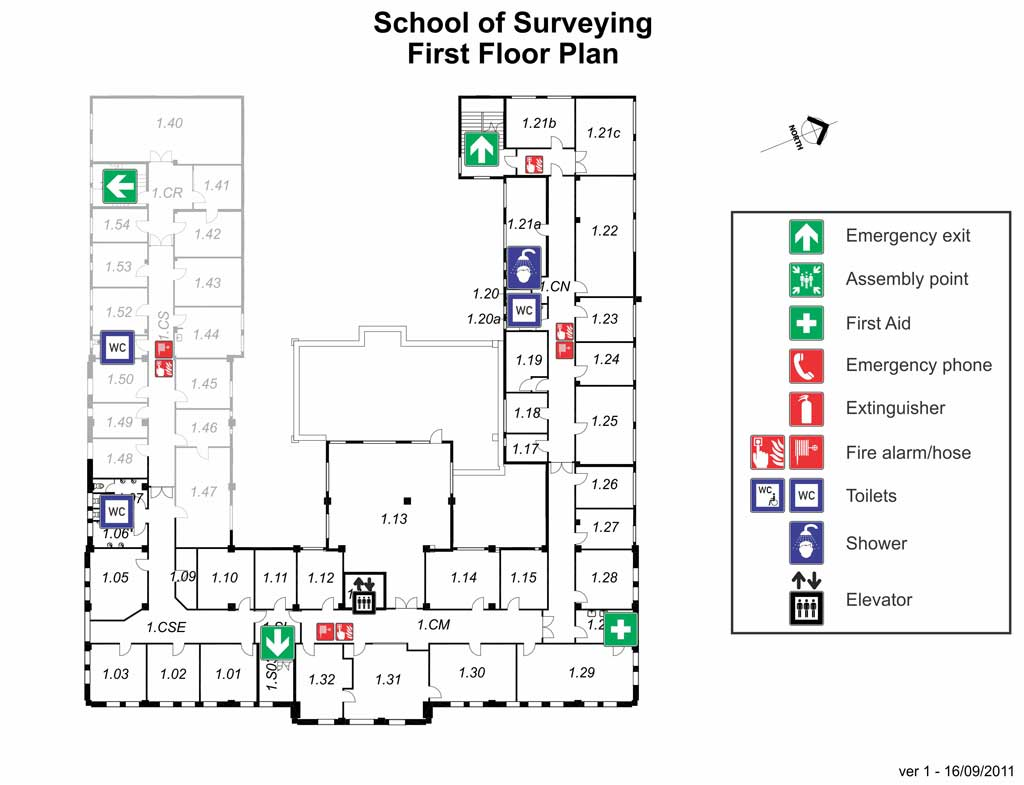 Surveying first floor map large