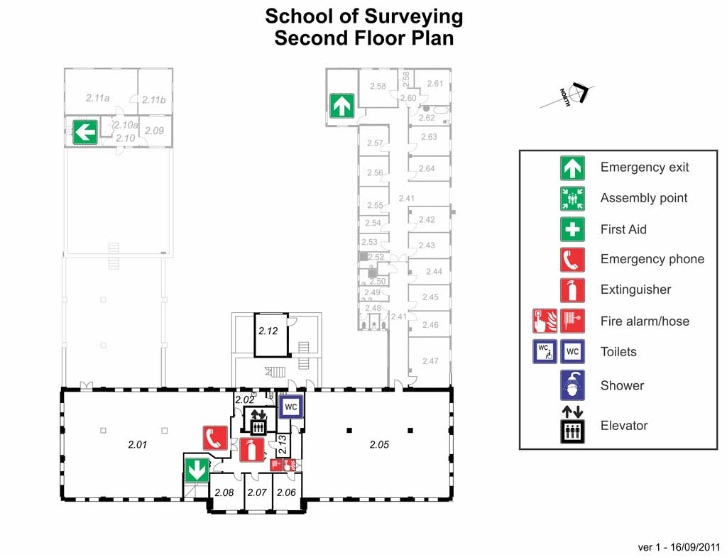Surveying second floor map large