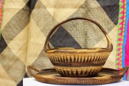 pacific island basket and tray