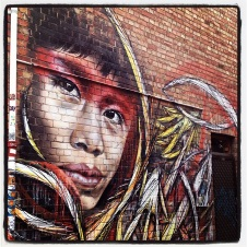 street art of indigenous person