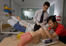 Students practice their skills at the University of Otago Christchurch Simulation Centre - Photo courtesy of The Press