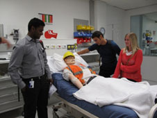 4th Year students meet SimMan3G at UOC Simulation Centre during 2012 Introductory Fortnight