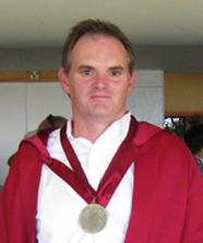 Mark Hampton with teaching medal