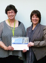 Helen Morrin receiving the General Staff Exceptional Performance Award 2013