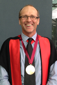 Martin Kennedy with Research Gold Medal