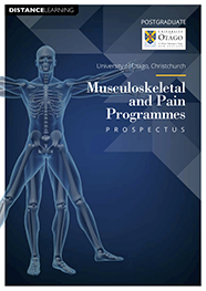 cover - Musculoskeletal and Pain Programmes prospectus