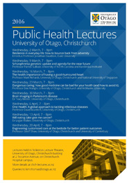 Public Health Lectures Poster