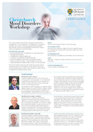 Christchurch Mood Disorders Workshop