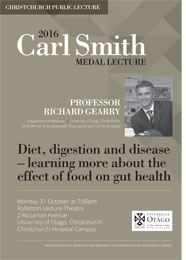 poster - 2016 Carl Smith Medal lecture