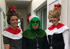 Pathology admin team wins award at UOC Christmas hat competition