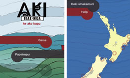 Screen grab of Aki-Hauora app
