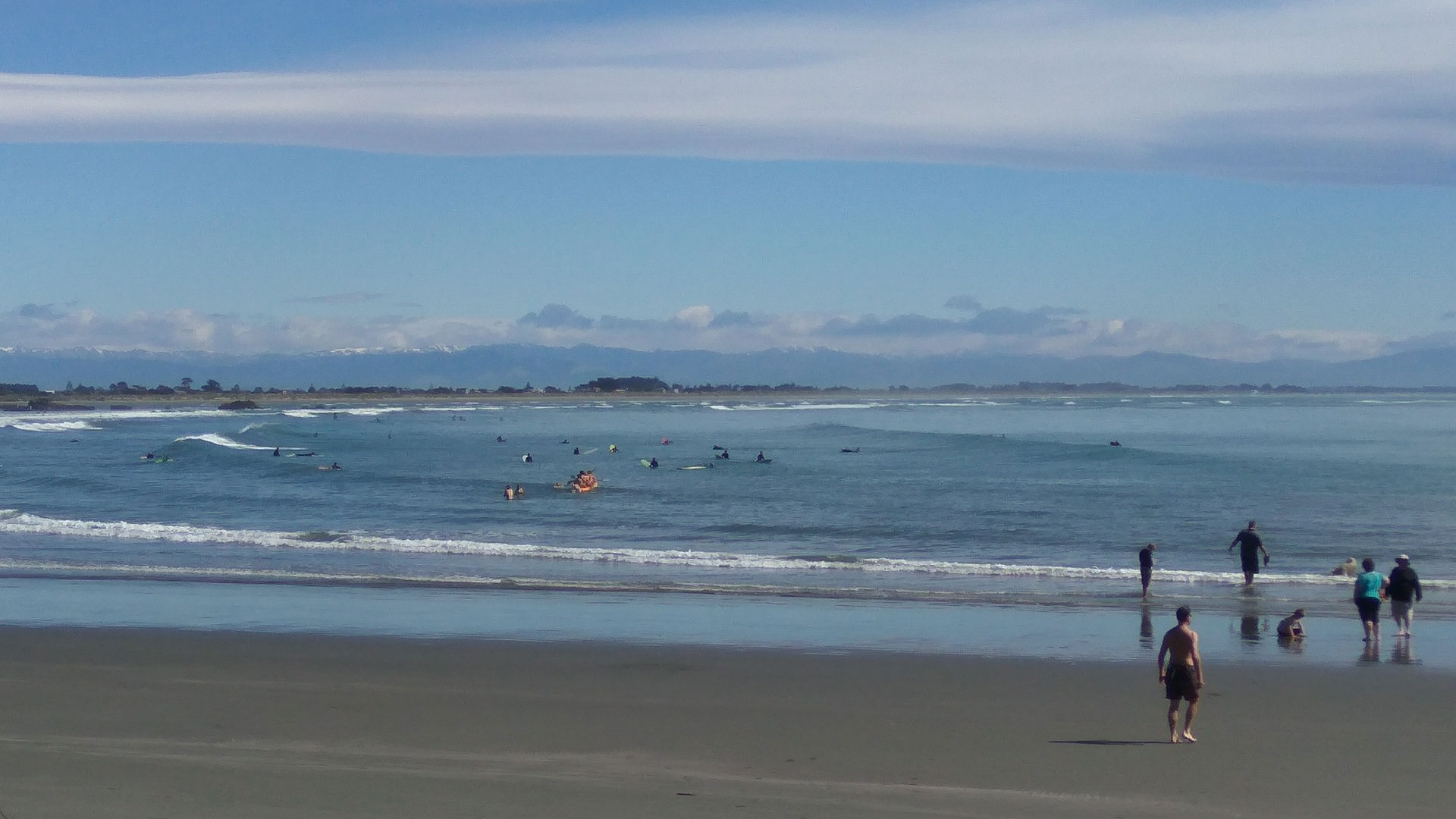 Surfers at Sumner Beach (Oct 2017)