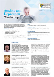 flyer - Anxiety and Depression workshop